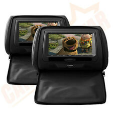 "2X 7"" In Car Headrest DVD Player/Monitor Twin Screen Detachable Zipper XTRONS"