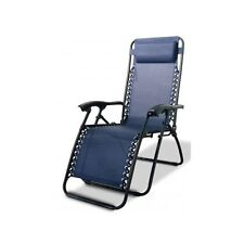 Zero Gravity Chair Blue Anti Gravity Chaise Lounge Recliner Beach Patio Outdoor
