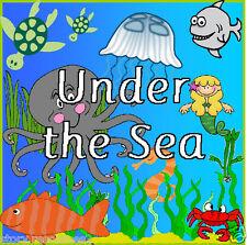 UNDER THE SEA topic teacher teaching  resource KS1 CHILDMINDER EYFS Resources cd