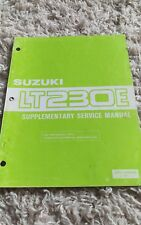 1988 Suzuki Lt230E Lt230 Lt 230E Supplementary Repair Service Shop Manual Oem