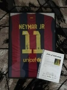 Neymar Jr. Autographed Signed Nike FC Barcelona Home Jersey with PSA/DNA C.O.A.