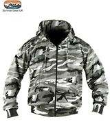 Urban Hoodie Full Zip Camo Fashion Fleece Military / Urban Biker Warm Jacket