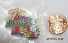 QVC Mississippi State 1997 50 50 Steamboat Flower Shopping USA Lapel Pin Pinback