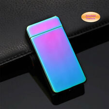 Electric Dual Arc Plasma USB Recharge Flameless Windproof Lighter JL607 Rainbow