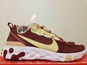 Nike React Element 55 FSU Florida State Seminoles Shoes CK4838 600 Men's Size 10