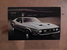 NOS 71 MUSTANG MACH 1   ORIGINAL FORD SALES MAILER PHOTO POSTCARD 1971 FASTBACK