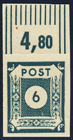 SBZ, MiNr. 43 A b G, Druck Gummiseite, postfrisch, gepr. Ströh, Mi. 320,-