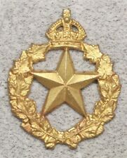 Canadian Army Badge:  le Regiment de Montmagny - brass