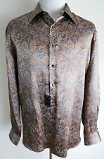 $1650 NEW STEFANO RICCI Rare Color Paisley 100% Silk Dress Shirt Size 3XL XXXL