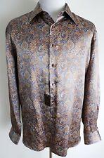 $1650 NEW STEFANO RICCI Rare Color Paisley 100% Silk Dress Shirt Size 3XL XXXL