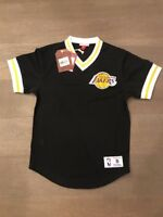 BNWT Mitchell & Ness Los Angeles Lakers Mesh Jersey Adult S (36) Black V-Neck