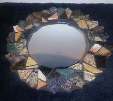 Rare Round Wall Mirror Mosaic Tile Art By Hill Brin Designs