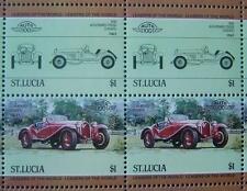 1930 ALFA ROMEO 1750 GS ZAGATO Car 50-Stamp Sheet Auto 100 Leaders of the World
