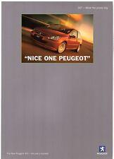 Peugeot 307 Hatchback Press Comments 2001-02 UK Market Foldout Sales Brochure