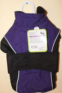 Fashion Pet Waterproof Reflective Coat Purple with Black Small new