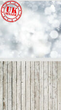 CHRISTMAS SALE SILVER LIGHTS WOOD FLOOR BACKDROP VINYL PHOTO 5X7FT 150x220CM
