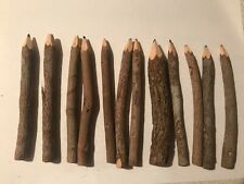 12 Natural Bark Stick Twig Branch Colored Pencils Kid Decor Crafting
