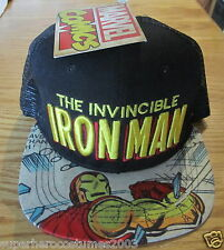 The Avengers Iron Man Adjustable Hat Marvel Comics Brand New Small - Medium