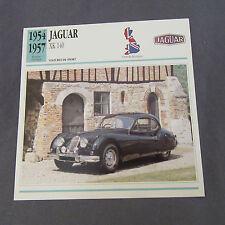 643C Edito Service Fiche Dépliant Jaguar XK 140