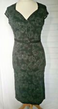 Living Dead Souls dress size XL 10-12 black and grey floral print goth emo