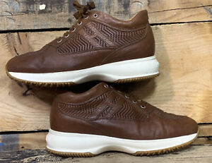Hogan Interactive Womens leather shoes size 7.5 made in Italy Great Condition