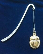Gold Plated Scarab Beetle Metal Bookmark, ancient egypt horus historical fiction