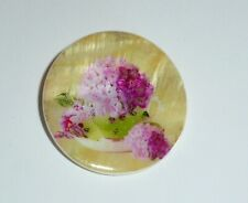 Teacup Full of Flowers  Button - Mother of Pearl MOP Shank Button 1+3/8""