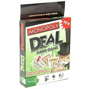 Monopoly Deal Card Game 2-5 Players family fun indoor-ws