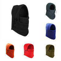Men Women Winter Fleece Balaclava Hat Ski Motorcycle Neck Face Mask Hood Cap