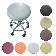 4PCS Bar Stool Cover Round Chair Slipcover Home Office Seat Protector Pure color