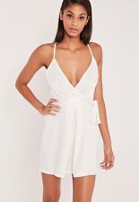 CARLI BYBEL Brand White Silky Belted Strappy Cami Mini Dress Size 4 BNWT #TU41
