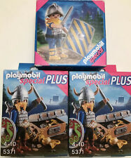 New Playmobil Lot Of 3 Special (1) 4684 (2) 5371 Viking soilder Gaurd