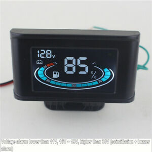 12V/24V Universal 2 Function Car Truck Fuel Level Gauge Meter +Digital Voltmeter