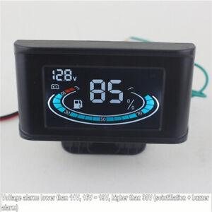 12V/24V Universal 2 Function Car Truck Fuel Level Gauge Meter +Digital Voltmeter