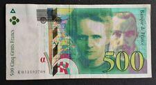 FRANCE - FRANCIA - FRENCH NOTE - BILLET DE 500F PIERRE & MARIE CURIE 1994 TTB.