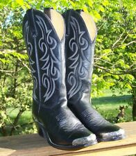 Womens size 6 1/2 black cowgirl / cowboy boots Texas American made in USA