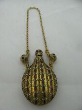 Antique Victorian Memento Mori Skull Silver Enamel Rubies Doctors Poison Bottle
