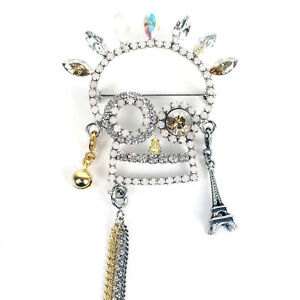 100% Authentic Anteprima Crystal Encrusted Skull Brooch Pin