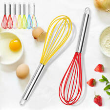 Silicone Mini Whisk Wisk Stainless Steel Utensil Kitchen Baking Professional AU