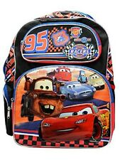 "Disney 95 Cars School Large 16"" inches Backpack for Kids - Licensed Product"