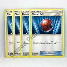 4 x CHERISH BALL - 191/236 Pokemon Trainer Cards SM11 UNIFIED MINDS