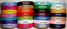 """Grosgrain Ribbon Solid Colors 3/8"""" Inch 5 Yards Of One Color you pick the color"""