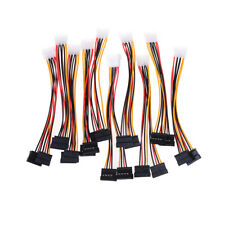 10x 4 pin ide male to dual sata y splitter female hdd power adapter cable luo s/