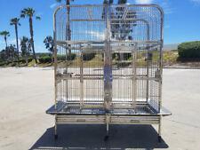 New  #304 Stainless Steel Indoor / Outdoor Bird Parrot Macaw Breeder Double Cage