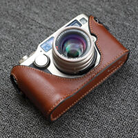 Funper Genuine Leather Half Case Fr Contax G2 Camera Protector without data back
