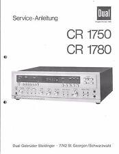 Dual Service Manual für CR 1750 / CR 1780