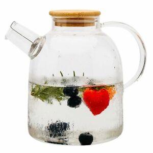 1L/1.5L Home Transparent Large Teapot Heat-Resistant Clear Flower Tea Pot Kettle