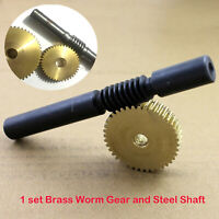 1 Modulus 20 to 60 Teeth Brass Worm Gear and Steel Shaft set for Drive Gearbox