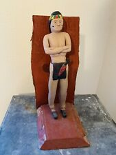 American Folk Art Native American Indian Carved and Painted Figure