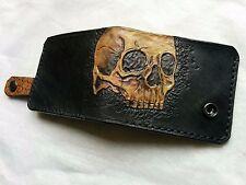 Men's 3D Genuine Leather Wallet, Custom Personalized Wallet with Skull, Skeleton